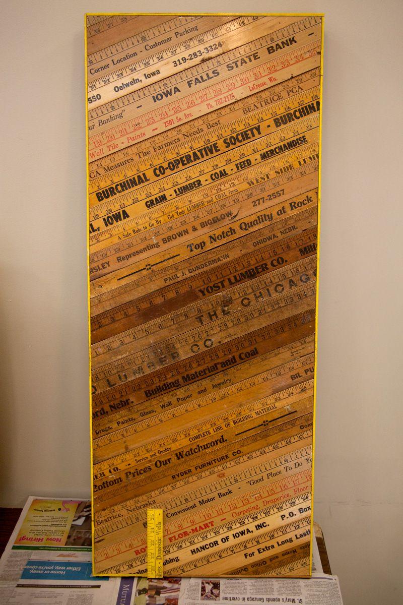Yardstick art reciclando reglas y cintas métricas pinterest