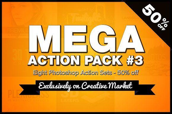 Mega Photoshop Action Pack #3 by SparkleStock on @creativemarket