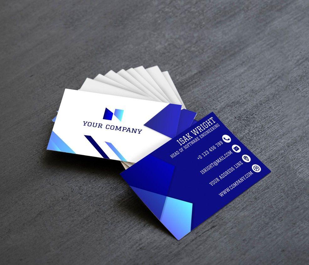 Business Card Design My Work Card Design Business Card Design Software Engineer