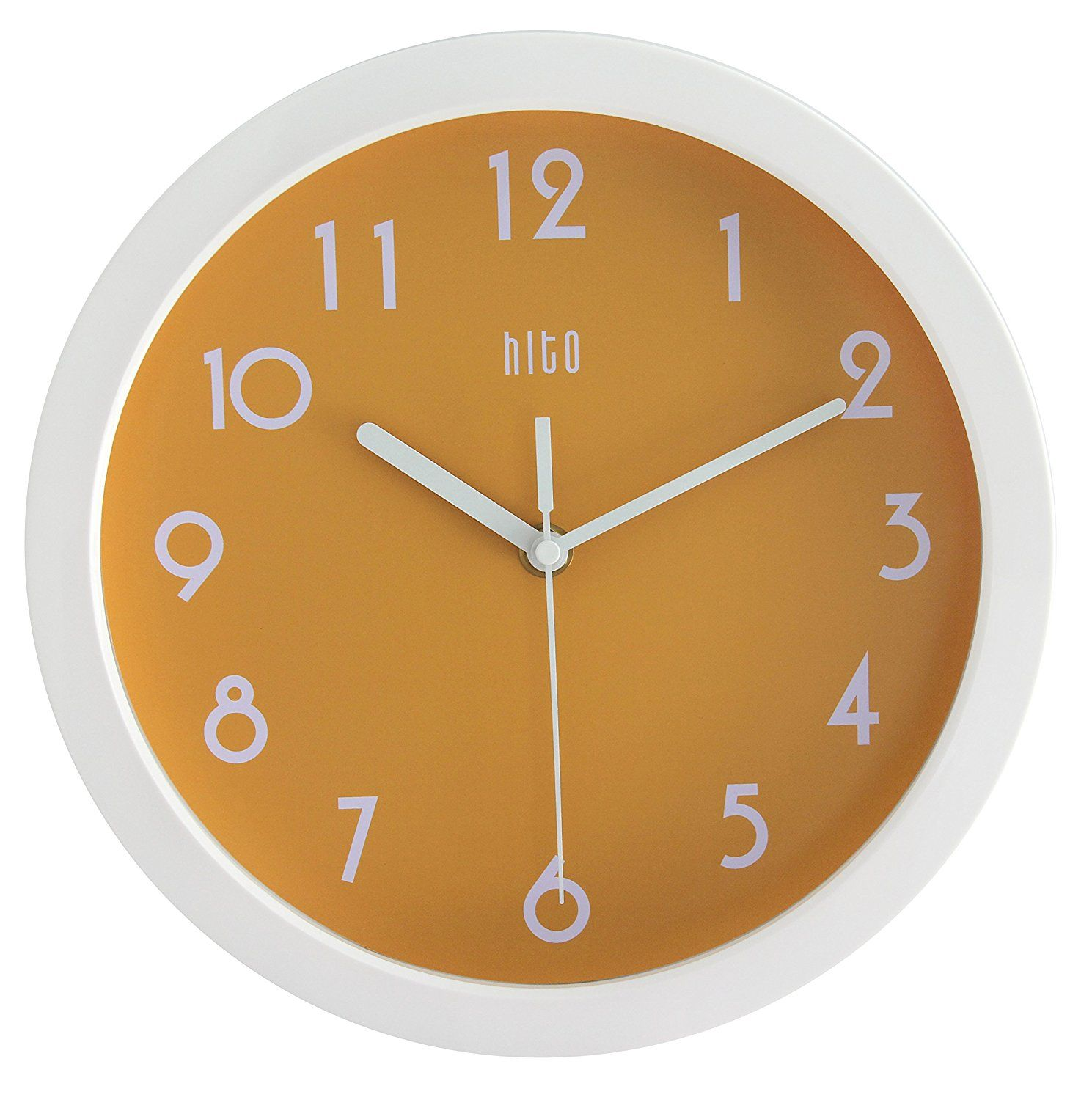 Amazon Com Hito Modern Colorful Silent Non Ticking Wall Clock 10 Inches Apple Green Home Kitchen Clock Wall Clock Kids Wall Clock