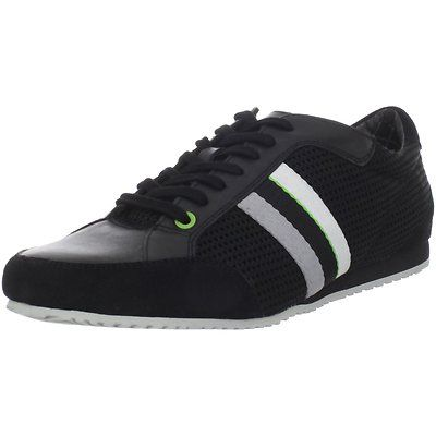 Hugo Boss Mens Victoire Black Lace-Up Tie Casual Fashion Sneakers Shoes  Kicks