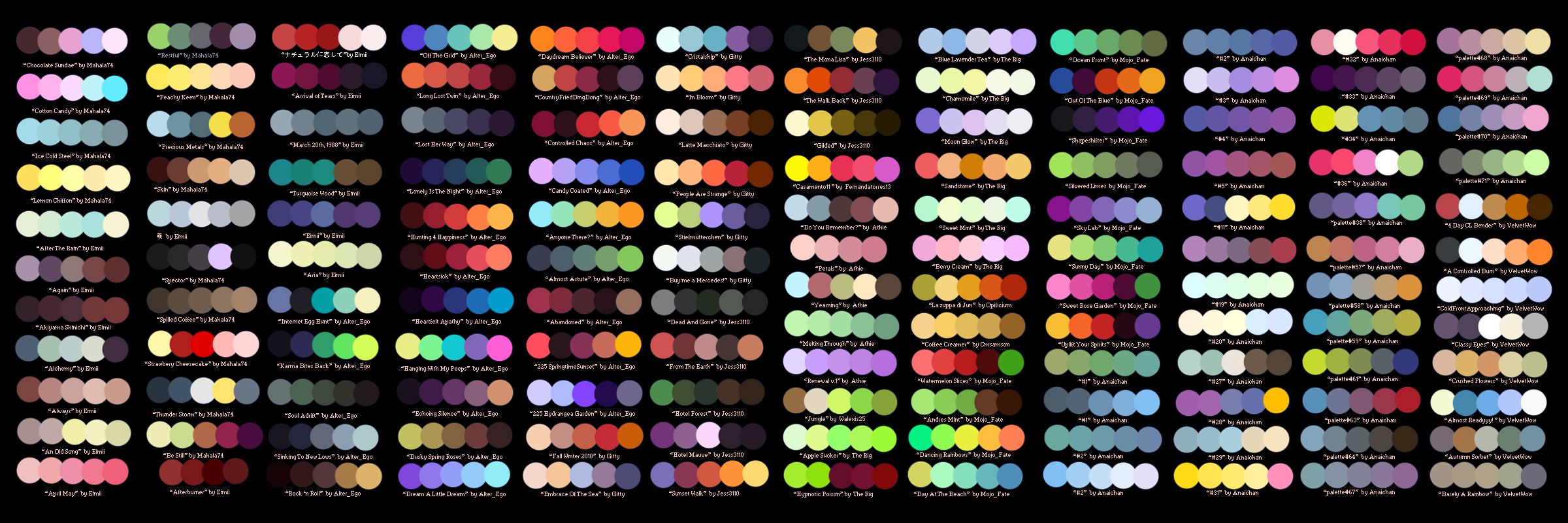 Colour Palette Challenge! by DefinitelyCringe Color