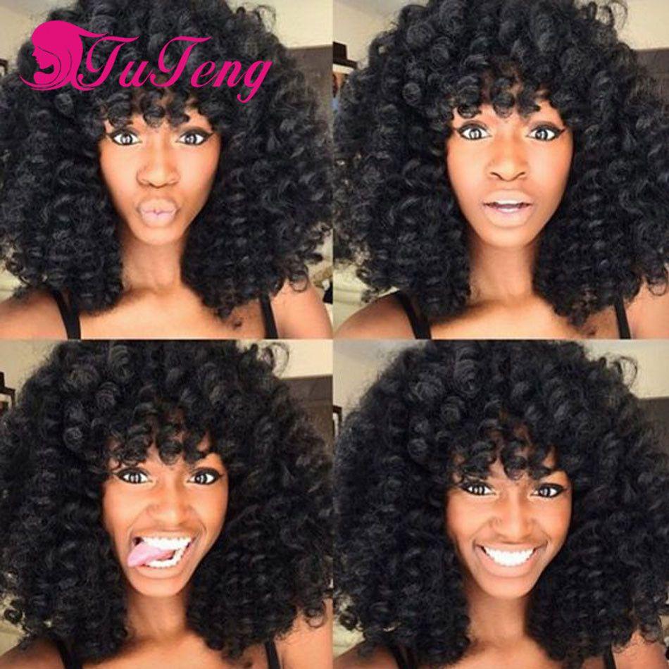 Extensiones de pelo rizado afro