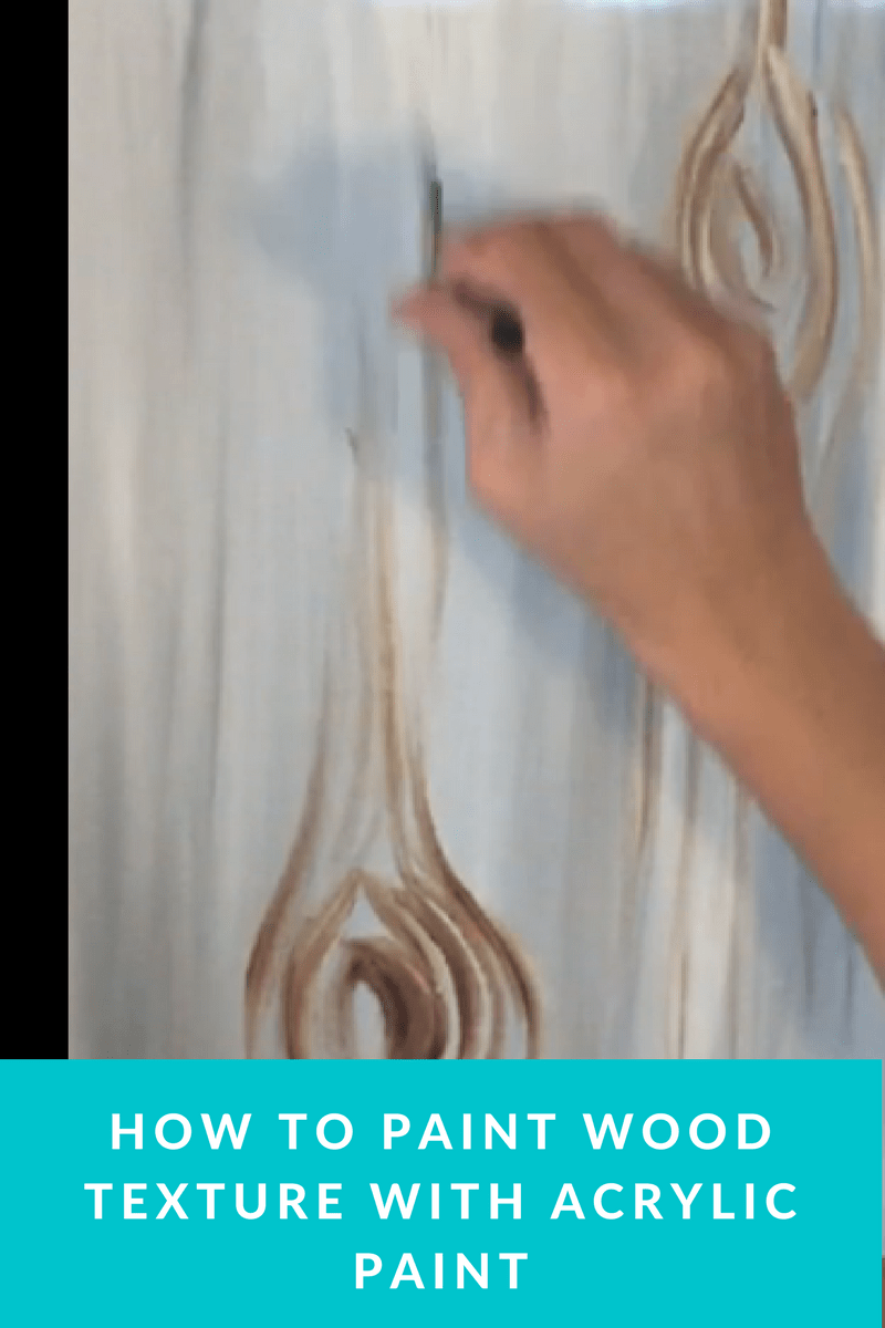 Learn how to paint a beautiful wood grain texture on canvas with