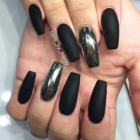 pinamourmalaysiaa on nails  metallic nails design