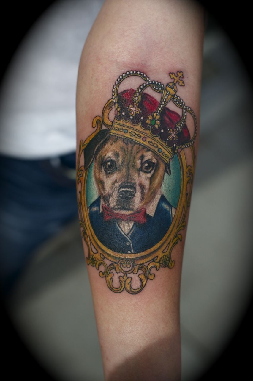 dog portrait tattoos - Google Search | Tattoos | Pinterest