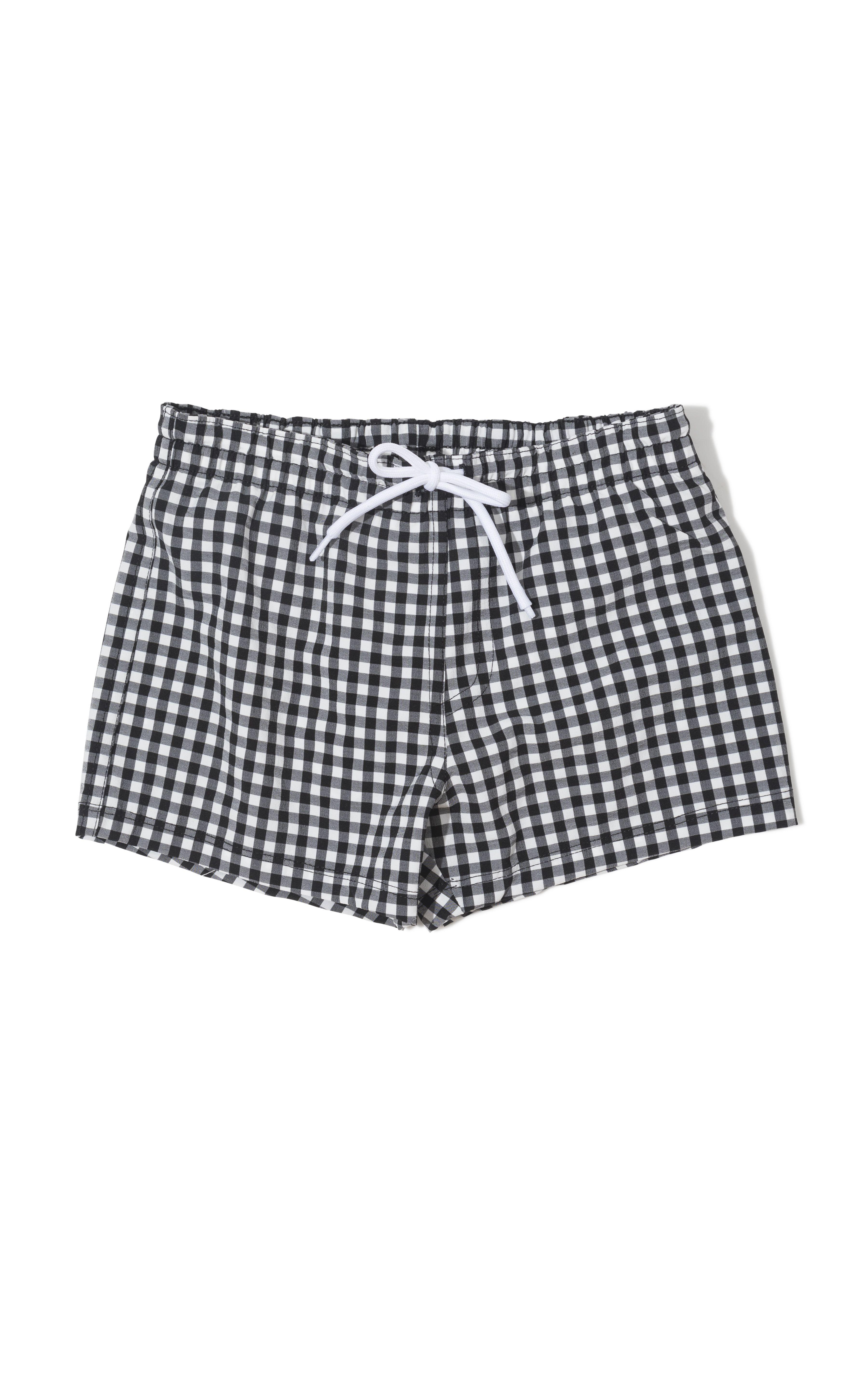83ea657d6f Classic Black Gingham Boy's Swim Shorts | Baby Girl Swim 2019 | Swim ...
