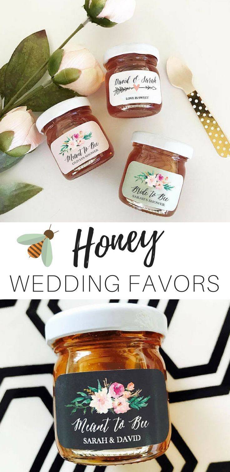 I love the idea of giving personalized jars of honey for wedding or ...