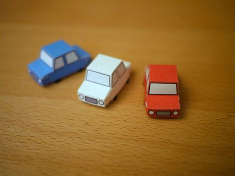 Sandbox Car Paper Toy - good possible treat, simple and