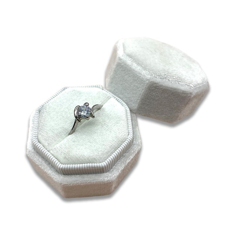 Octagon Velvet Ring Box Single Ring Display Holder With Detachable Lid Ring Box Holder For Wedding Ceremony In 2020 Jewelry Packaging Cheap Jewelry Quality Jewelry
