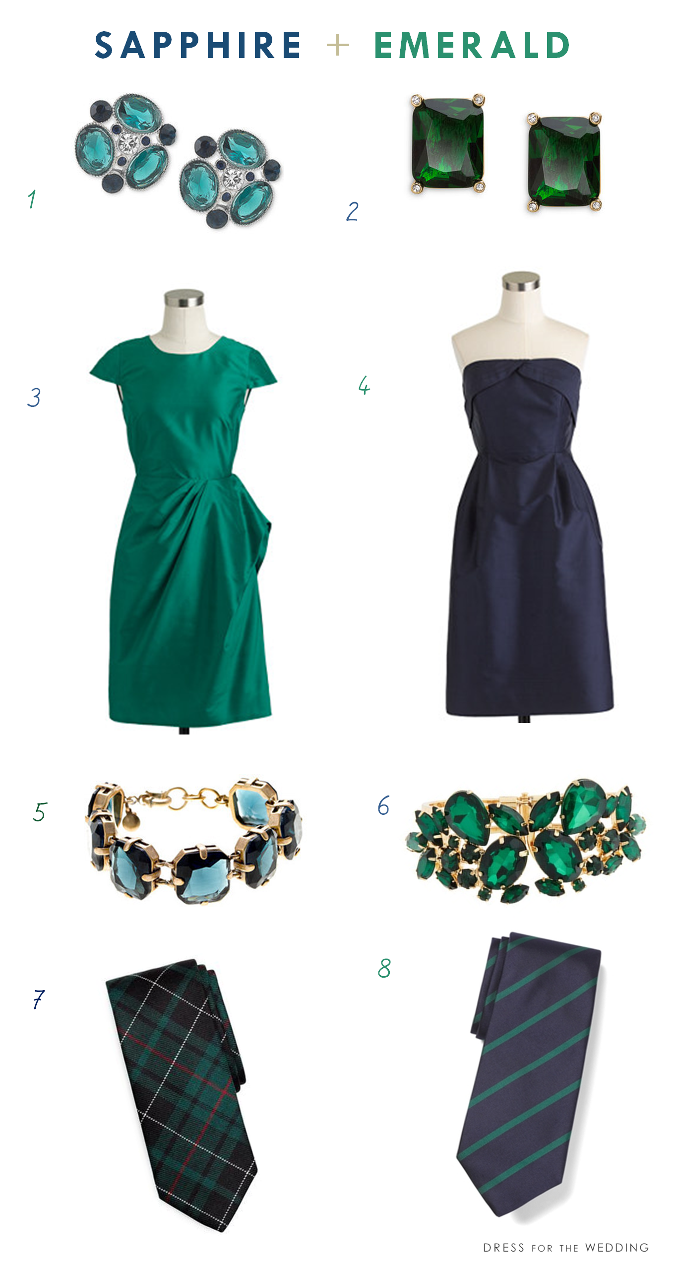 Sapphire and Emerald | Emerald dresses, Dress attire and Wedding