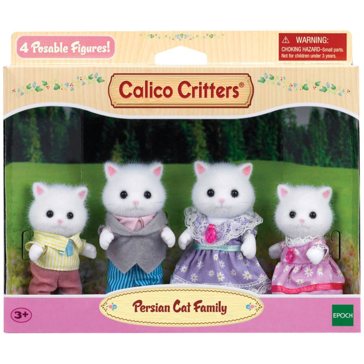 Epoch Everlasting Play Calico Critters Persian Cat Family