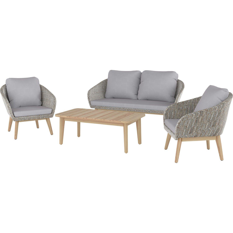 Lounge Set Bonavista 4 Teilig Aus Polyrattan Braun Kaufen Bei Obi In 2021 Lounge Polyrattan Polyrattan Gartenmobel
