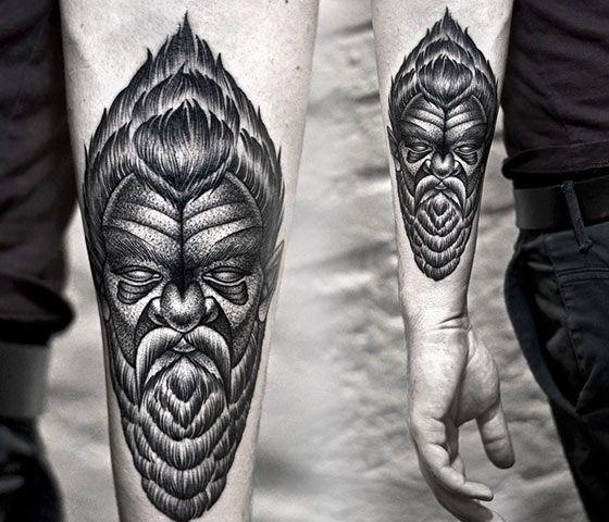 Dotwork portrait tattoo by Kamil Czapiga | anatomia | Pinterest ...