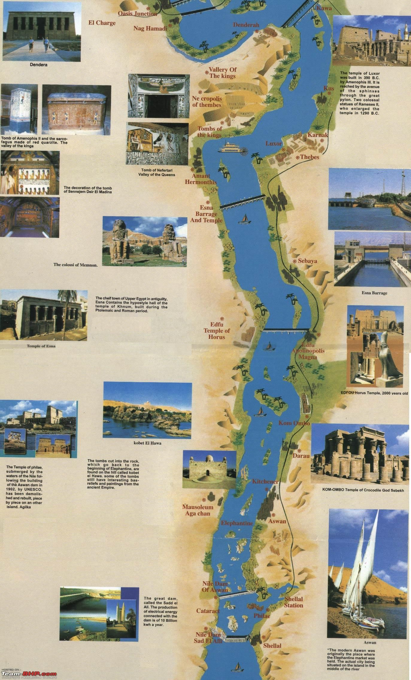 dmyegyptdaysphotologuenilecruiseroutemap  - egypt's touristic attractions places of interest along nile