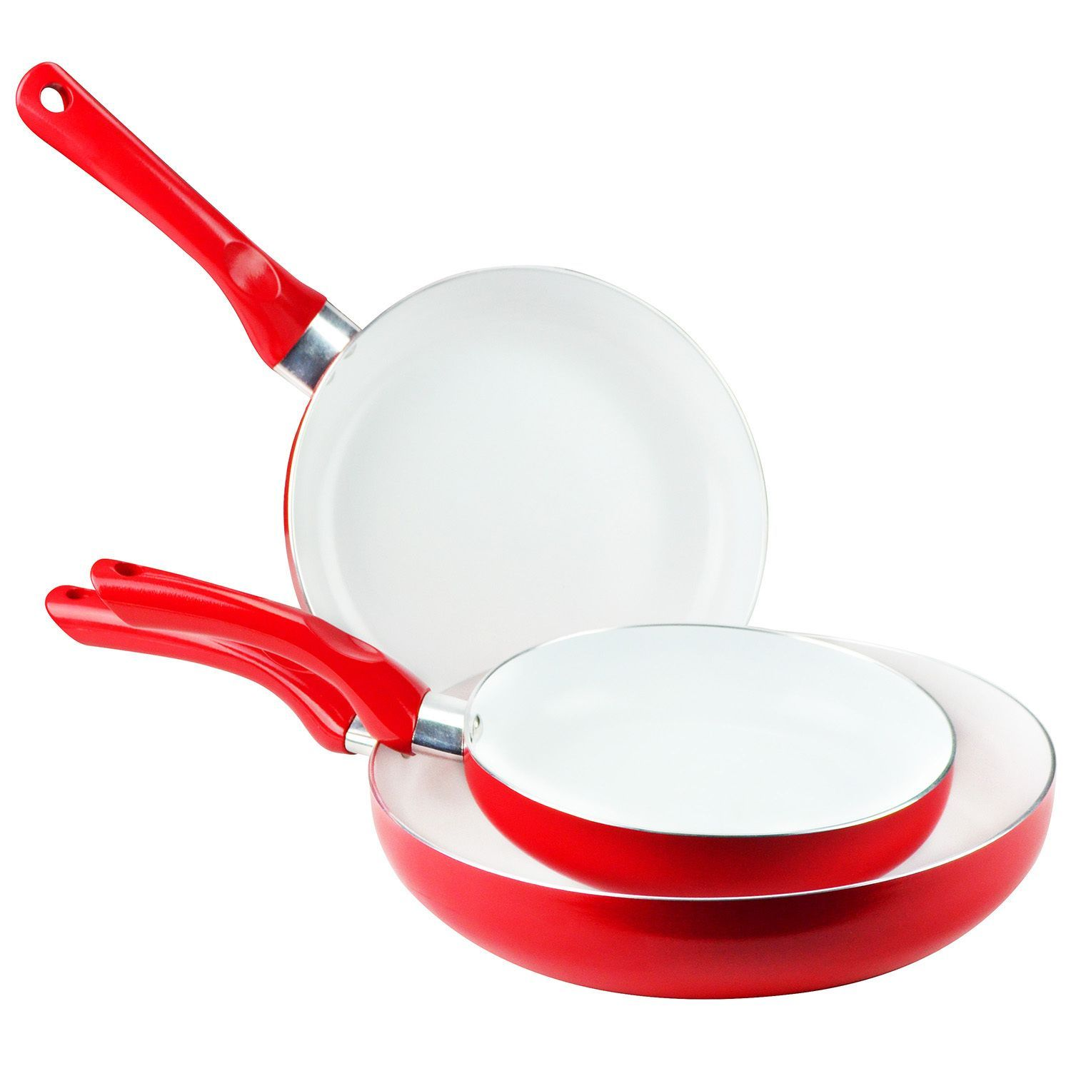 Use the 9 pieces of this Fry Pan Set to serve your dinner guests with style.