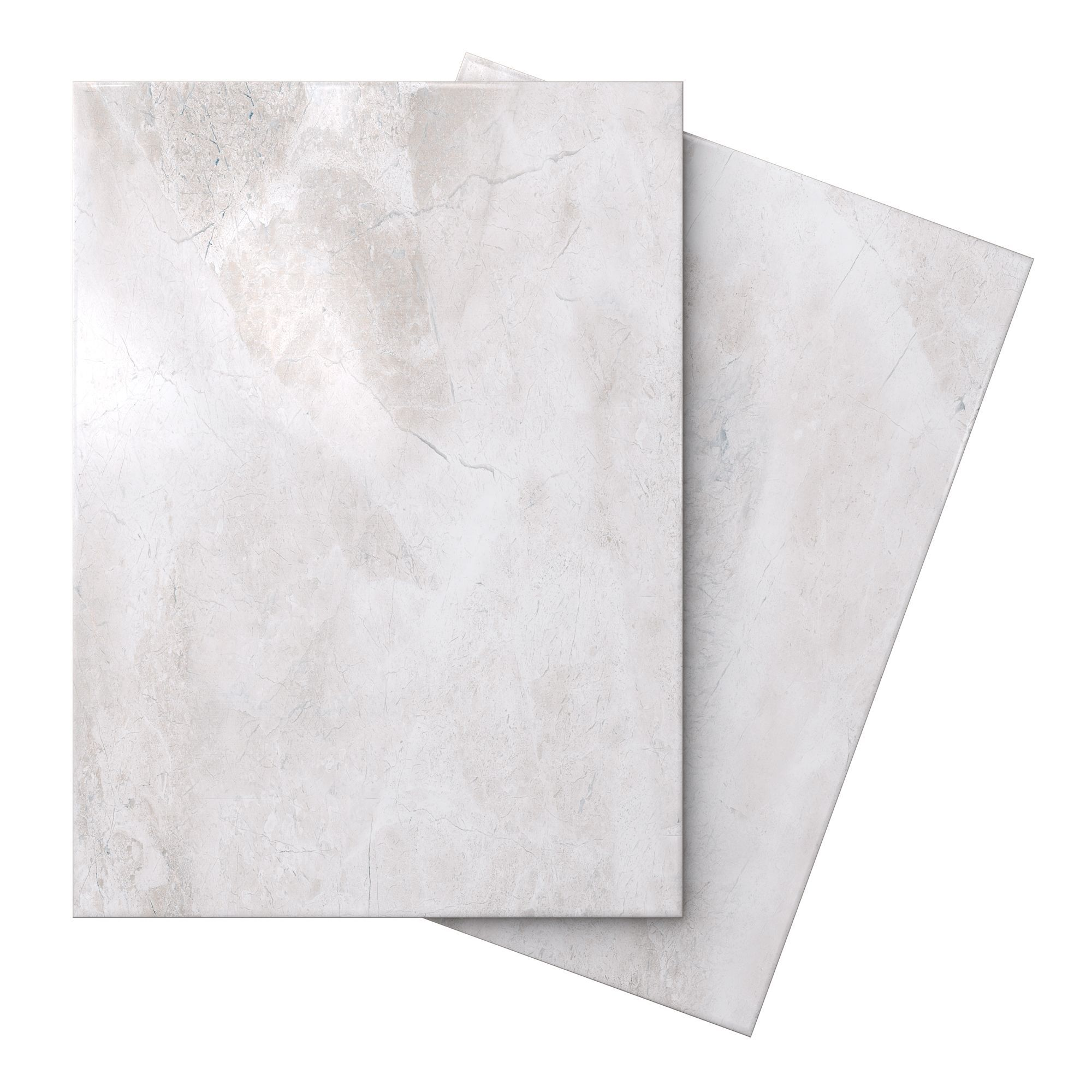 White Carrara Marble Effect Ceramic Wall Tiles Thin veined marble