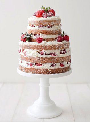 Тренд 2015 — свадебные торты с открытыми коржами ...