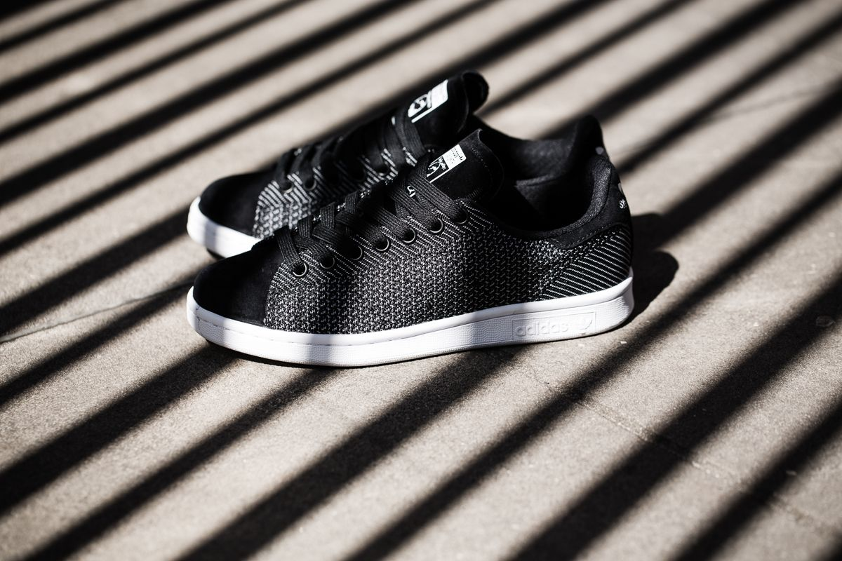 adidas stan smith black clear brown woven