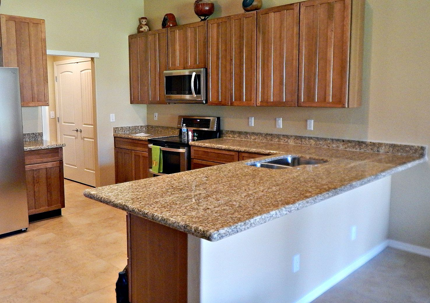 almond gold granite countertop remodel with half moon edge and stainless steel under mount sink almond gold granite countertop remodel with half moon edge and      rh   pinterest com