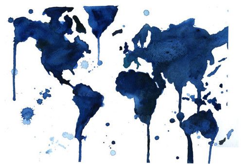 Watercolor world map by jessica durrant eclectic artwork objects watercolor world map by jessica durrant eclectic artwork gumiabroncs Image collections