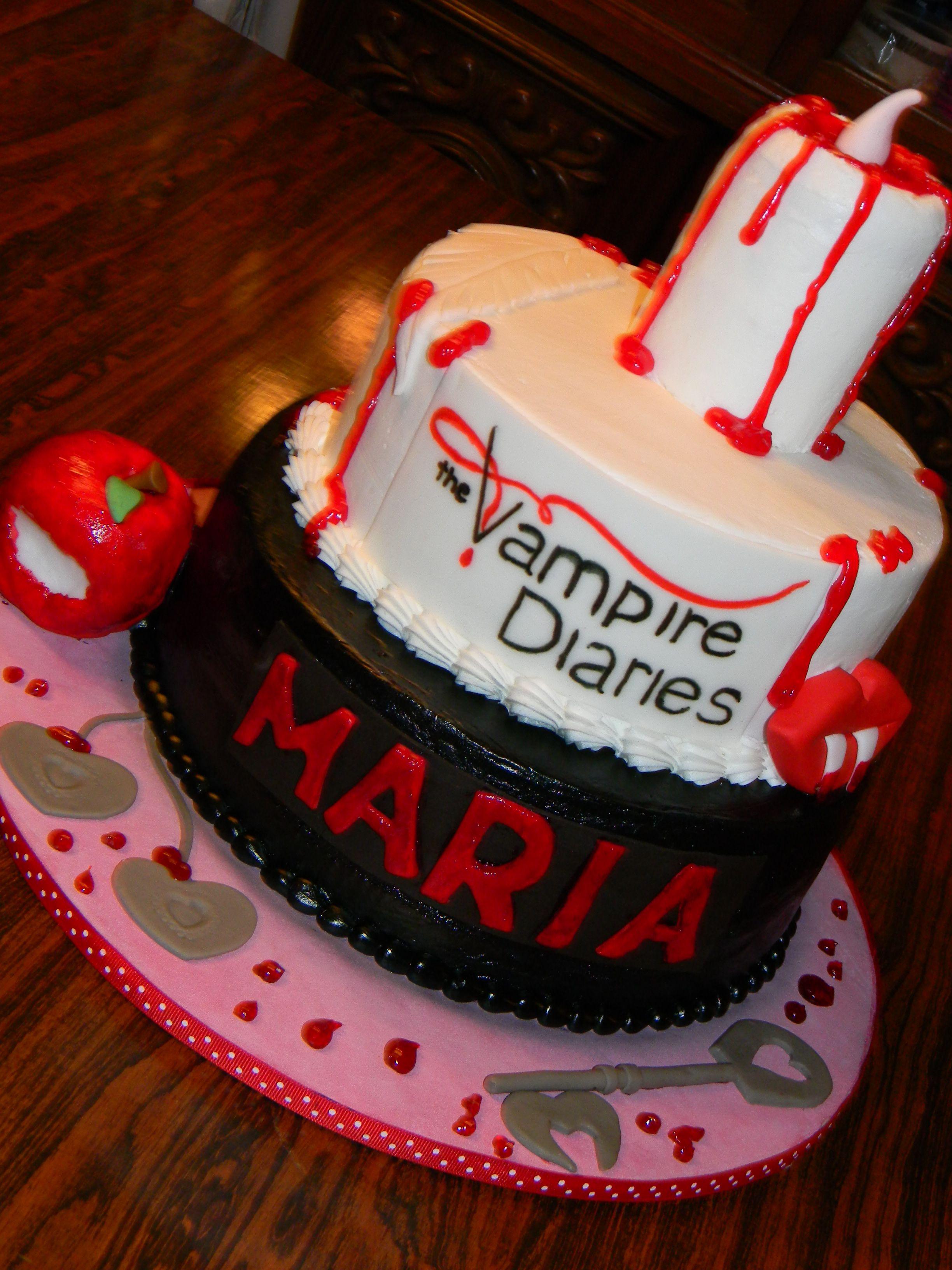 Vampire Diaries Cake Cakes Pinterest Cake Birthdays And