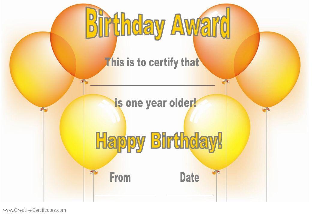Birthday Certificate Template 1g 1040720 Pixels Sunshine