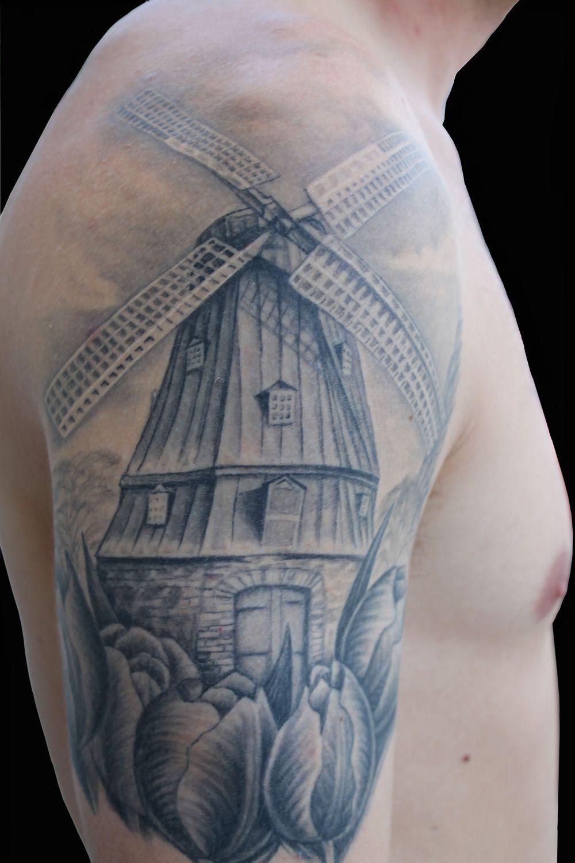 Sarah Eastick Windmill Tattoo Dutch Tattoo Tattoos