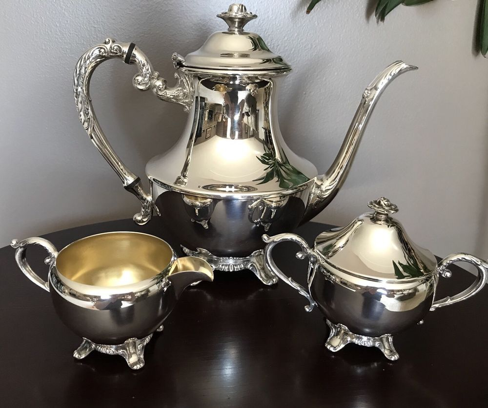Wm. A Rogers Silver Plated Teapot Set # 2077 | Teapot, Teacup and ...