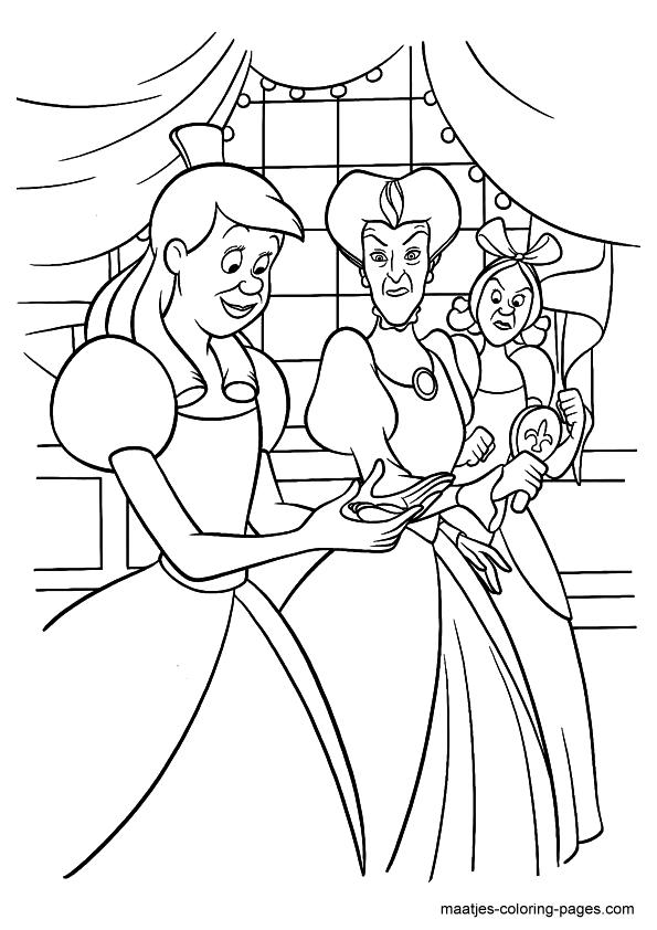 Cinderella Coloring Page Cinderella Coloring Pages Disney Coloring Pages Cartoon Coloring Pages