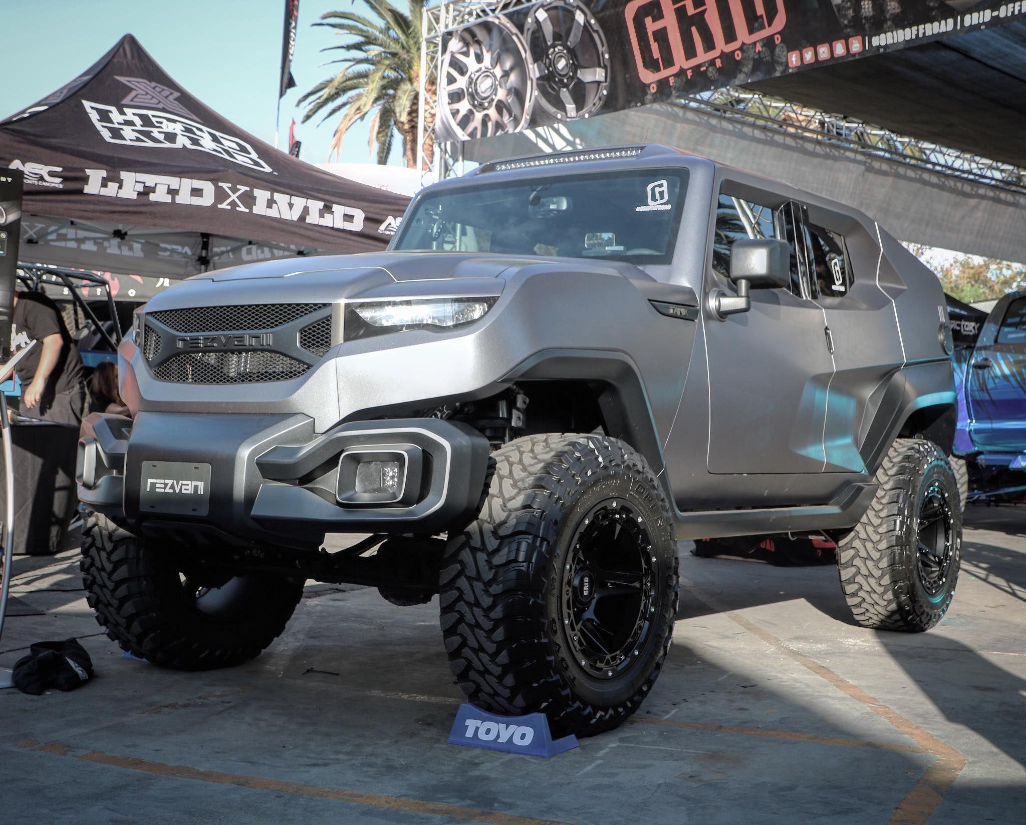 Rezvani Motors TANK Concept Build at the f Road Expo in Pomona Ca
