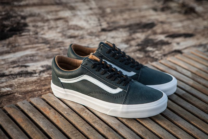VANS Old Skool Retro Calfskin Casual Low State Fashion