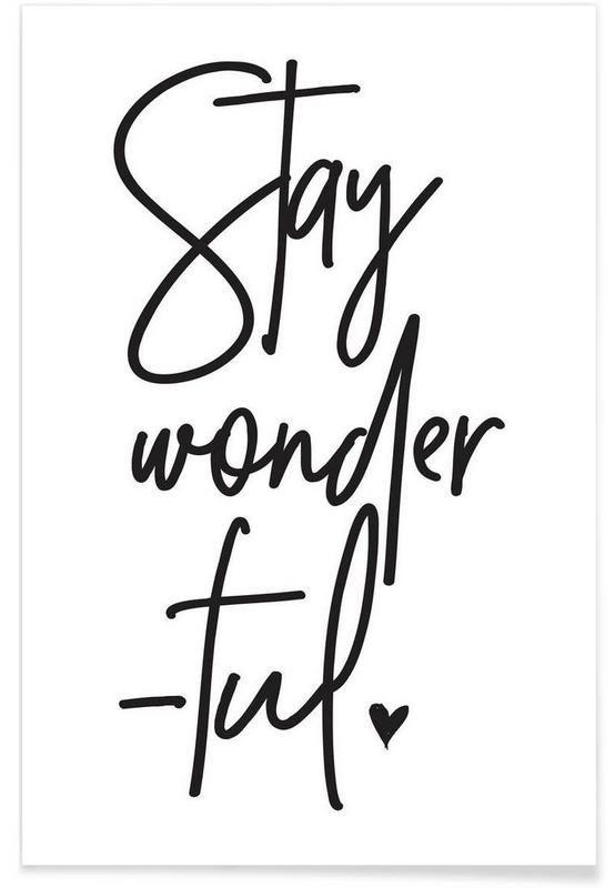 stay wonderful als premium poster von honeymoon hotel juniqe motivation pinterest. Black Bedroom Furniture Sets. Home Design Ideas