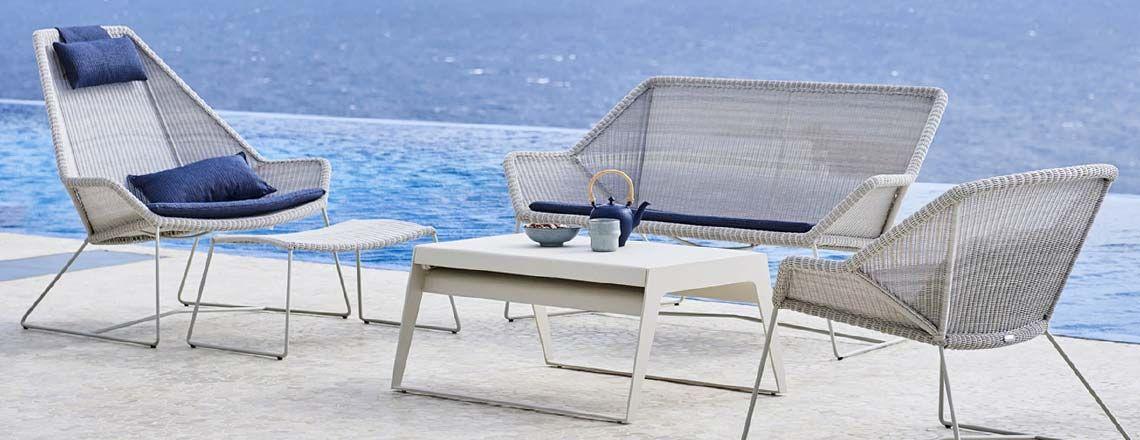 Cane Line Pure Outdoor Dining Villa Schmidt Aussenmobel Gartenmobel Produktdesign