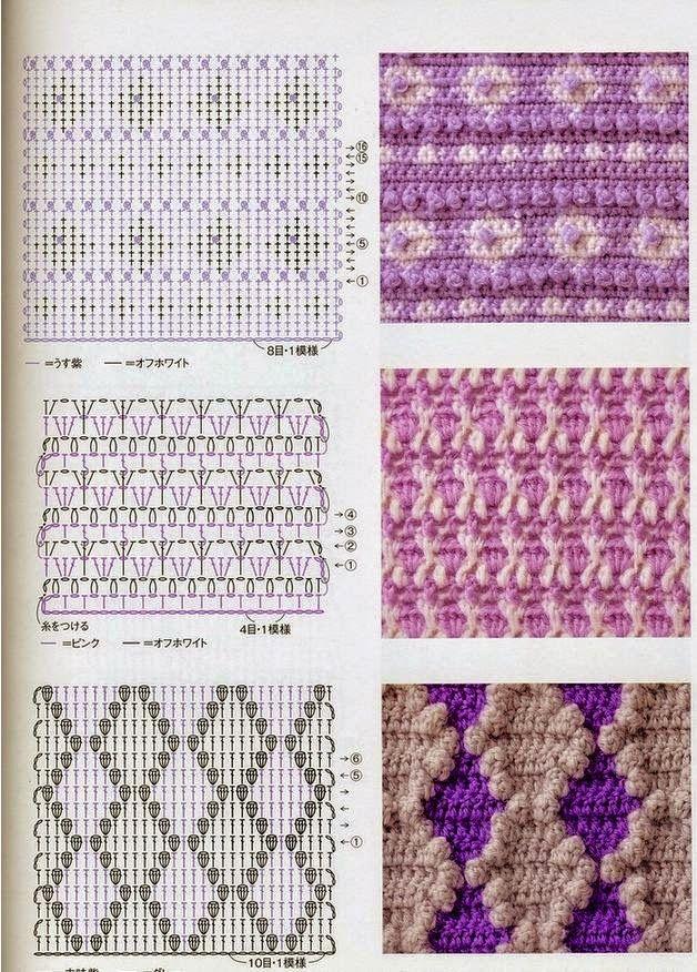 7 patrones | Proyectos que intentar | Pinterest | Patrones, Puntos ...