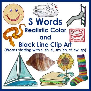 S Word Realistic Clip Art