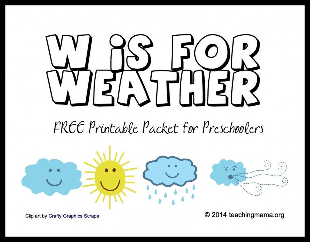 W Is For Weather - Letter W Printables