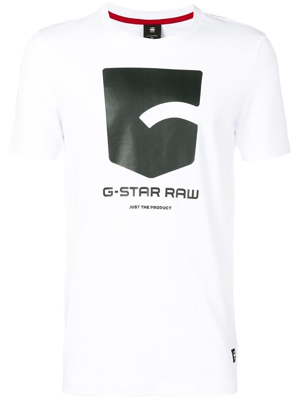 G Star Raw Research regular logo T shirt White   G star