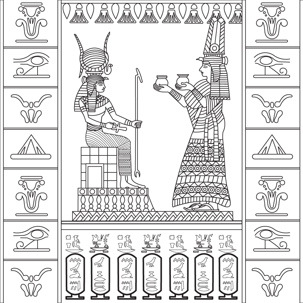 New Egyptian Coloring pages from Stress Relief Adult