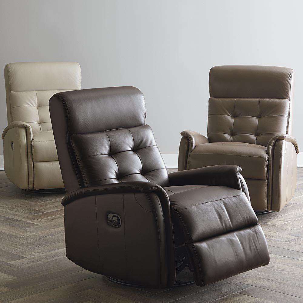 Bristol Swivel Glider Recliner Leather Furniture