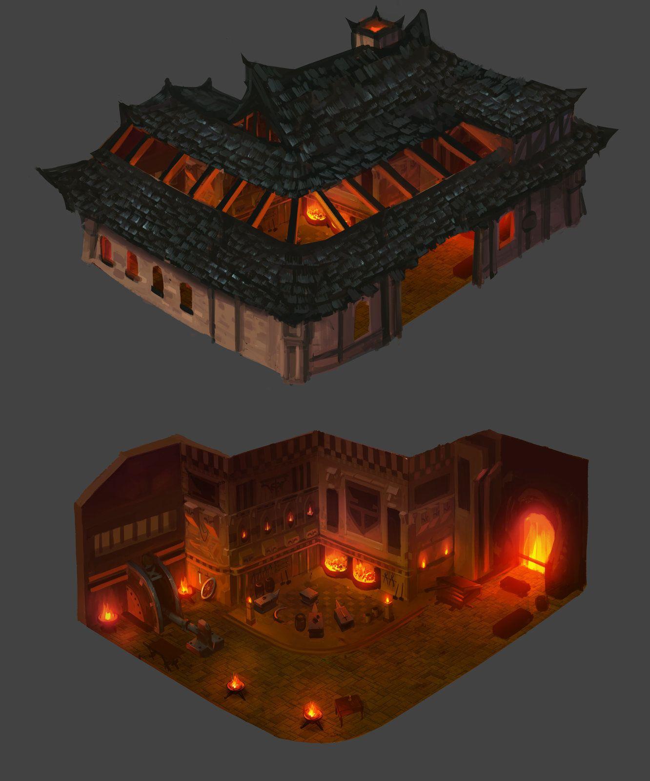 Forge design, David Ko on ArtStation at https://www.artstation.com/artwork/YG566