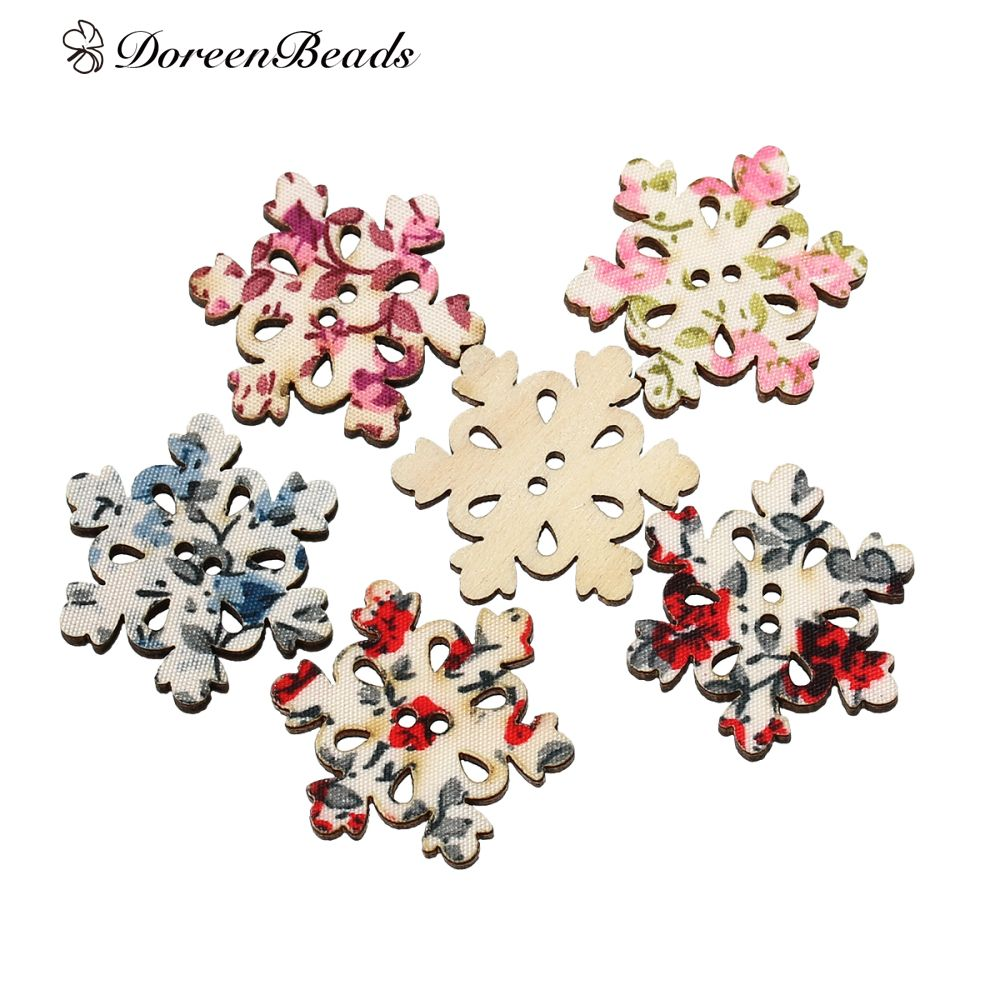 Doreenbeads wood sewing buttons scrapbooking christmas snowflake doreenbeads wood sewing buttons scrapbooking christmas snowflake mixed 2 holes flower pattern 300mm1 jeuxipadfo Choice Image