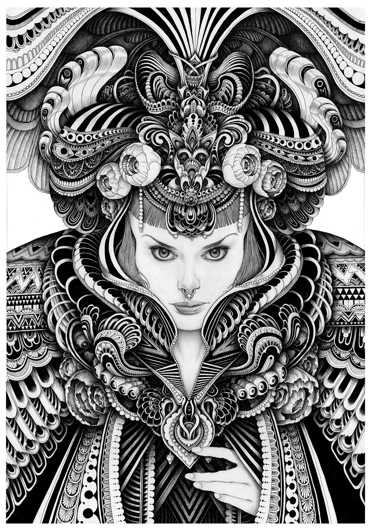 Gothic Portrait on Behance | Mandala design art