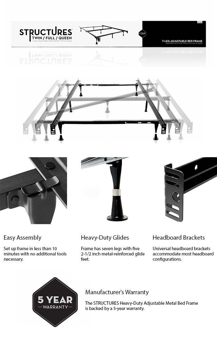 Best Structures Adjustable Metal Bed Frame Black Metal Beds 400 x 300