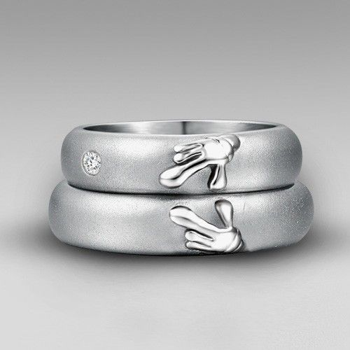 Fun Elegant Mickey Minnie Mouse S Bands Wedding Rings Bridal Jewelry