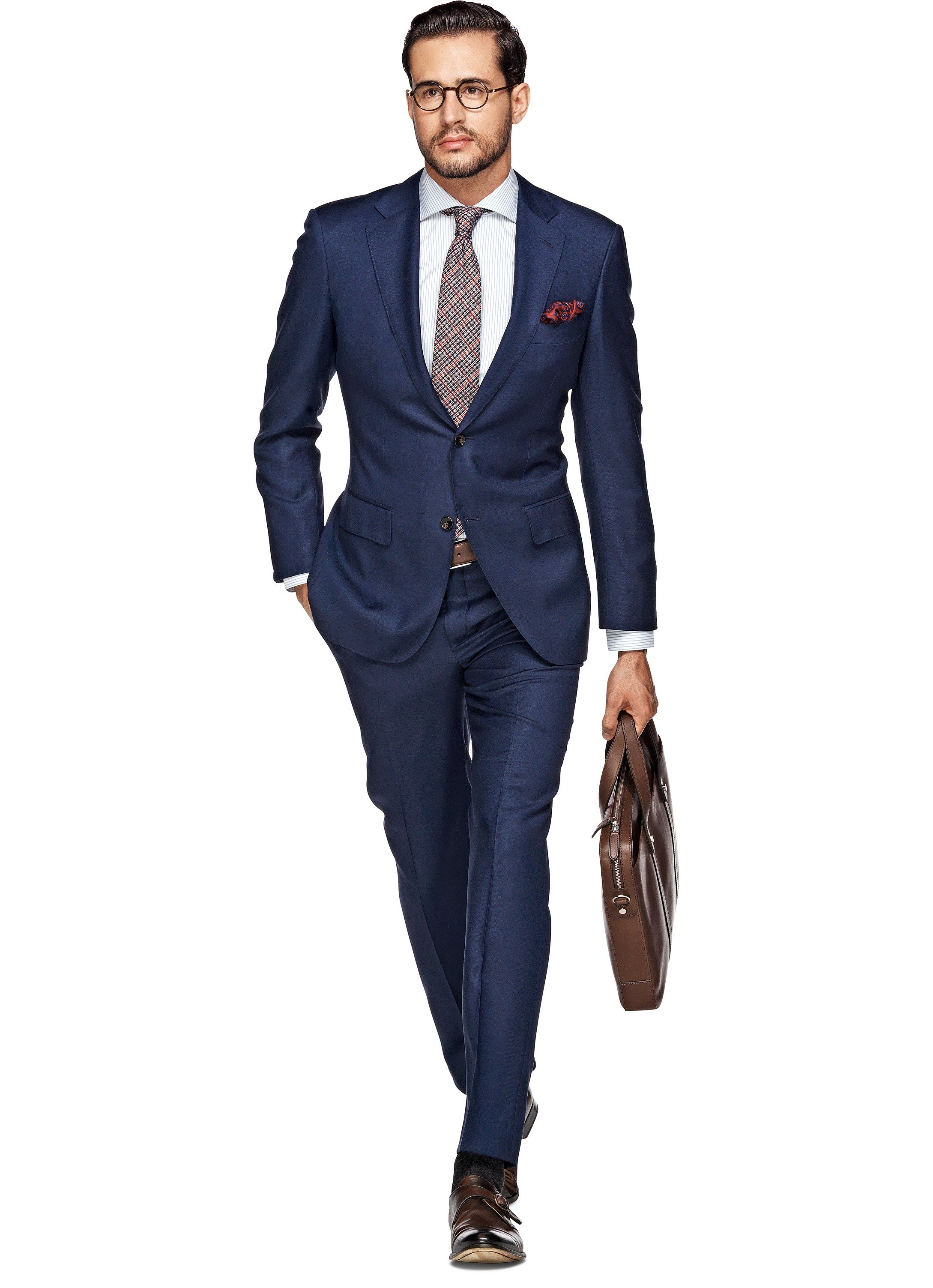 Suit Blue Plain Napoli P3458 | Suitsupply Online Store | Suits ...
