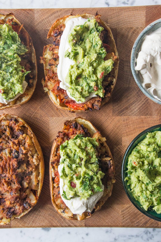 Köstlich Ellas geladenes Rezept für Kartoffelschalen nach mexikanischer Art  – Light Meals
