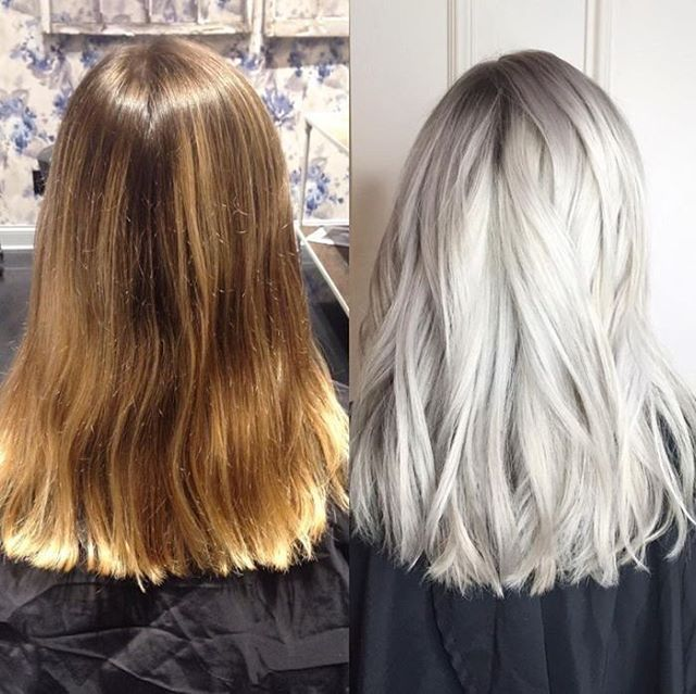 Monday Back At It This Gorgeous Brassy To Platinum Transformation