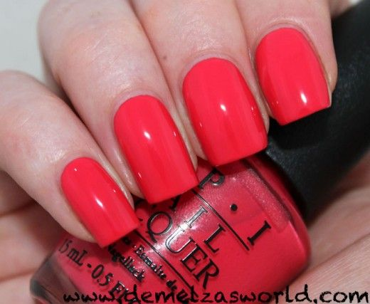 Opi My Chihuahua Bites Love This One It S A Nice Dark Pink Infused Coral Classic Nail Polish Cute Nail Polish How To Do Nails