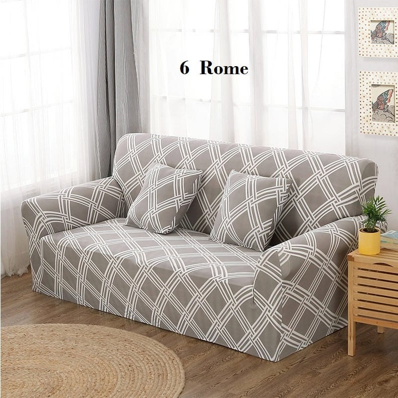 Sofa Cover Couch Cover Eco Slipcover Couch Protector Pattern Color Printed Slipcover Spandex Stretchable Polyester Fabric Soft In 2020 Couch Covers Sofa Covers Corner Sofa Covers